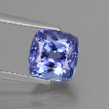 thumb image of 3.3ct Cushion-Cut Violet Blue Tanzanite (ID: 441291)