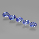 thumb image of 0.5ct Oval Facet Violet Blue Tanzanite (ID: 445773)