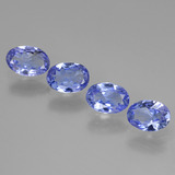 thumb image of 2.1ct Oval Facet Violet Blue Tanzanite (ID: 445845)