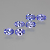thumb image of 2.1ct Oval Facet Violet Blue Tanzanite (ID: 445909)