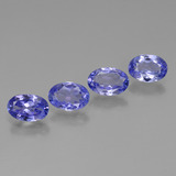 thumb image of 2.3ct Oval Facet Violet Blue Tanzanite (ID: 446450)