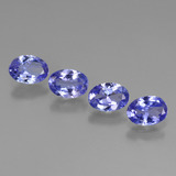 thumb image of 2.4ct Oval Facet Violet Blue Tanzanite (ID: 446451)