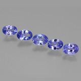 thumb image of 2.8ct Oval Facet Violet Blue Tanzanite (ID: 446473)