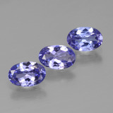 thumb image of 0.6ct Oval Facet Intense Violet Blue Tanzanite (ID: 446492)