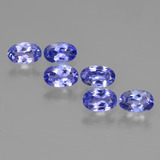thumb image of 2.5ct Oval Facet Violet Blue Tanzanite (ID: 446493)