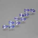 thumb image of 1.7ct Pear Facet Violet Blue Tanzanite (ID: 454063)
