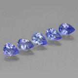 thumb image of 3.2ct Pear Facet Violet Blue Tanzanite (ID: 454088)