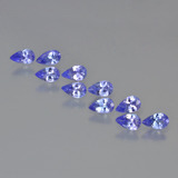 thumb image of 2.1ct Pear Facet Violet Blue Tanzanite (ID: 454157)