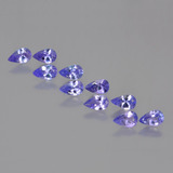 thumb image of 2.3ct Pear Facet Violet Blue Tanzanite (ID: 454282)