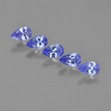thumb image of 1.3ct Pear Facet Violet Blue Tanzanite (ID: 454563)