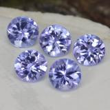 thumb image of 1.4ct Round Facet Violet Blue Tanzanite (ID: 468913)