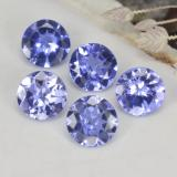 thumb image of 1.1ct Round Facet Violet Blue Tanzanite (ID: 468919)