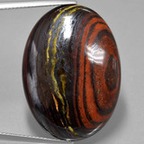 thumb image of 41.9ct Oval Cabochon Multicolor Tiger's Eye Matrix (ID: 405775)