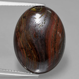 thumb image of 17.9ct Oval Cabochon Multicolor Tiger's Eye Matrix (ID: 405798)