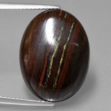 thumb image of 19.4ct Oval Cabochon Multicolor Tiger's Eye Matrix (ID: 405809)