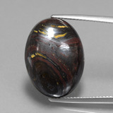 thumb image of 22.2ct Oval Cabochon Multicolor Tiger's Eye Matrix (ID: 405932)