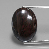 thumb image of 23.9ct Oval Cabochon Multicolor Tiger's Eye Matrix (ID: 405935)