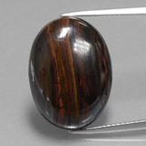 thumb image of 18.7ct Oval Cabochon Multicolor Tiger's Eye Matrix (ID: 405938)