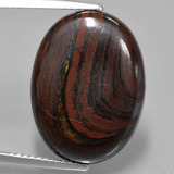 thumb image of 14.4ct Oval Cabochon Multicolor Tiger's Eye Matrix (ID: 406108)