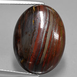 thumb image of 16.5ct Oval Cabochon Multicolor Tiger's Eye Matrix (ID: 406120)