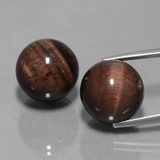 thumb image of 40ct Drilled Sphere Multicolor Tiger's Eye Matrix (ID: 422950)
