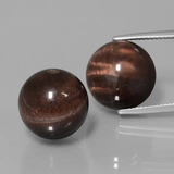thumb image of 36.6ct Drilled Sphere Multicolor Tiger's Eye Matrix (ID: 422951)