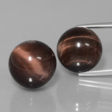 thumb image of 40.8ct Drilled Sphere Multicolor Tiger's Eye Matrix (ID: 422972)