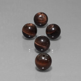 thumb image of 37.3ct Drilled Sphere Multicolor Tiger's Eye Matrix (ID: 423051)