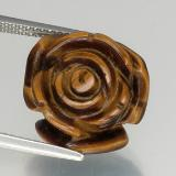 thumb image of 11.8ct Carved Rose with Half Drilled Hole Gold Brown Tiger's Eye (ID: 328608)