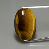 thumb image of 20.1ct Oval Cabochon Gold Brown Tiger's Eye (ID: 389953)