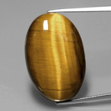 thumb image of 20.5ct Oval Cabochon Gold Brown Tiger's Eye (ID: 390173)