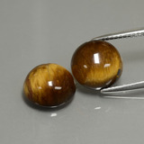 thumb image of 7.6ct Round Cabochon Gold Brown Tiger's Eye (ID: 390328)
