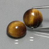 thumb image of 7.7ct Round Cabochon Gold Brown Tiger's Eye (ID: 390384)