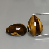 thumb image of 22.7ct Pear Cabochon Gold Brown Tiger's Eye (ID: 390600)