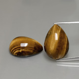thumb image of 22.8ct Pear Cabochon Gold Brown Tiger's Eye (ID: 390602)