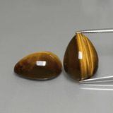 thumb image of 22.1ct Pear Cabochon Gold Brown Tiger's Eye (ID: 390603)