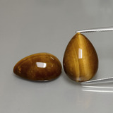 thumb image of 22.1ct Pear Cabochon Gold Brown Tiger's Eye (ID: 390604)