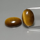 thumb image of 9ct Oval Cabochon Gold Brown Tiger's Eye (ID: 390826)