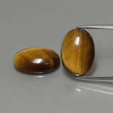 thumb image of 9ct Oval Cabochon Gold Brown Tiger's Eye (ID: 391034)