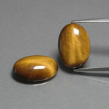 thumb image of 9ct Oval Cabochon Gold Brown Tiger's Eye (ID: 396767)