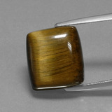 thumb image of 12ct Baguette Cabochon Gold Brown Tiger's Eye (ID: 397877)