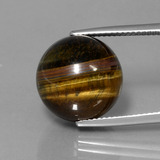 thumb image of 21ct Drilled Sphere Gold Brown Tiger's Eye (ID: 422958)