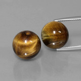 thumb image of 23.8ct Drilled Sphere Gold Brown Tiger's Eye (ID: 422965)