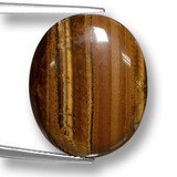 thumb image of 19.9ct Oval Cabochon Gold Brown Tiger's Eye (ID: 461843)