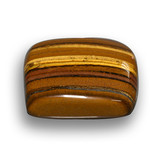 46.93 ct Cushion Cabochon Gold Brown Tiger's Eye Gem 24.46 mm x 23.3 mm (Photo B)