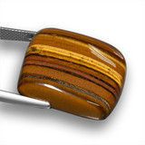 46.93 ct Cushion Cabochon Gold Brown Tiger's Eye Gem 24.46 mm x 23.3 mm (Photo C)
