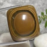 thumb image of 40.9ct Cushion Cabochon Gold Brown Tiger's Eye (ID: 472381)