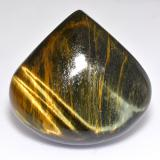 thumb image of 45.6ct Pear Cabochon Multicolor Tiger's Eye (ID: 518947)