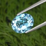 thumb image of 3.1ct Oval Facet Swiss Blue Topaz (ID: 293750)