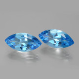 4.44 ct Marquise Facet Dark Blue Topaz Gem 15.95 mm x 8 mm (Photo B)